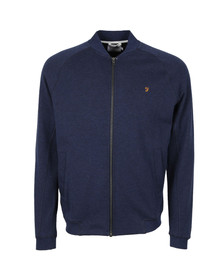 Farah Mens Blue Carrick Bomber Sweat