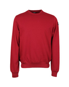Paul & Shark Mens Red Fleece Crew Neck Sweatshirt