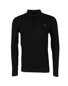 Farah Mens Black Stapleton L/S Polo
