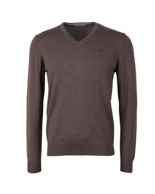 J.Lindeberg Mens Brown Lymann Merino Knit Jumper