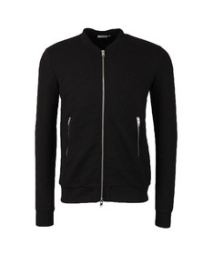 J.Lindeberg Mens Black Randall Quilt Jersey Sweat
