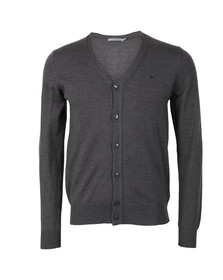J.Lindeberg Mens Grey Lymac True Merino Cardigan