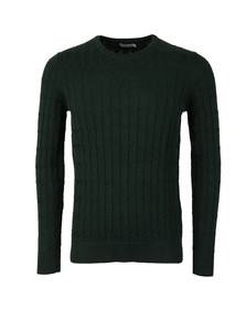 J.Lindeberg Mens Green Hugo Square Braid Knit