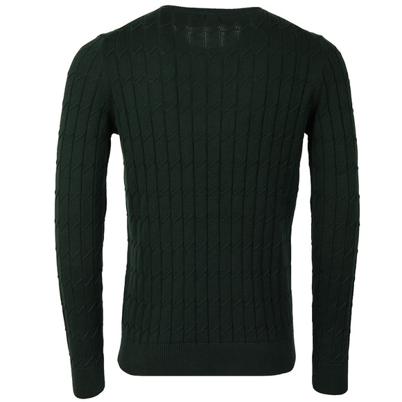 J.Lindeberg Mens Green Hugo Square Braid Knit main image
