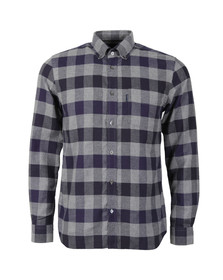 Aquascutum Mens Blue Marcus Large Scale Check Shirt