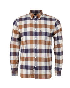 Aquascutum Mens Brown Marcus Large Scale Check Shirt