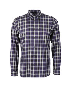 Aquascutum Mens Blue Emsworth LS CC Shirt
