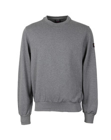 Paul & Shark Mens Grey Fleece Crew Neck Sweatshirt