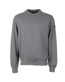 Paul & Shark Mens Grey Fleece Crew Neck Sweatshirt