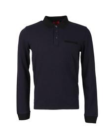 Hugo Mens Blue Dexet LS Polo Shirt