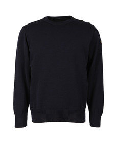 Paul & Shark Mens Blue Knitted Wool Crew Neck Jumper
