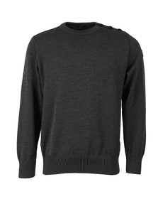 Paul & Shark Mens Grey Knitted Wool Crew Neck Jumper