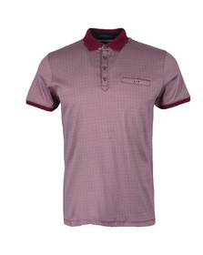 Ted Baker Mens Purple SS Printed Polo