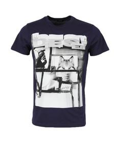 Diesel Mens Blue Diego HF T Shirt