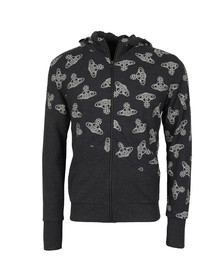 Vivienne Westwood Anglomania Mens Black Time Machine Full Zip Sweater