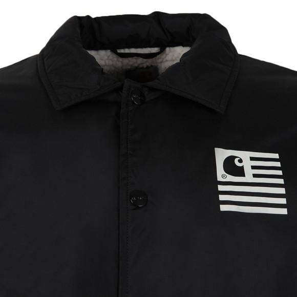 c56d1769 Carhartt WIP Mens Black State Pile Coach Jacket main image