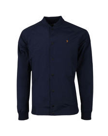 Farah Mens Blue Bellinger Bomber Jacket