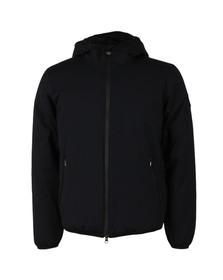 EA7 Emporio Armani Mens Black Taped Zip Down Jacket