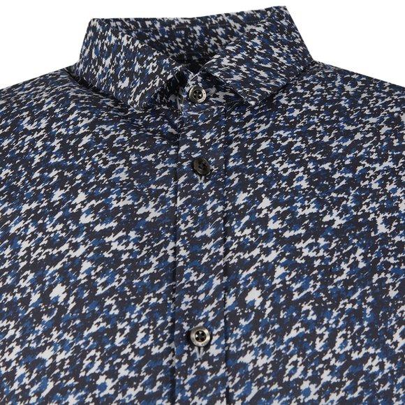 HUGO Mens Blue Ero3 Patterned Shirt