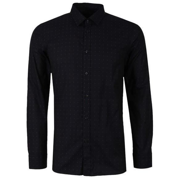 HUGO Mens Blue Elisha Patterned Shirt