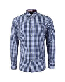 Crew Mens Blue Classic Gingham LS Shirt