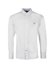 Crew Mens White Dunham Oxford LS Shirt