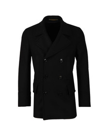 Paul Smith Mens Blue Double Breasted Wool Coat