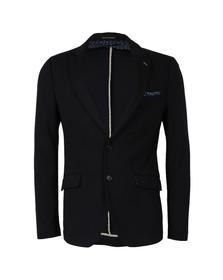Scotch & Soda Mens Blue Stretch Jersey Blazer