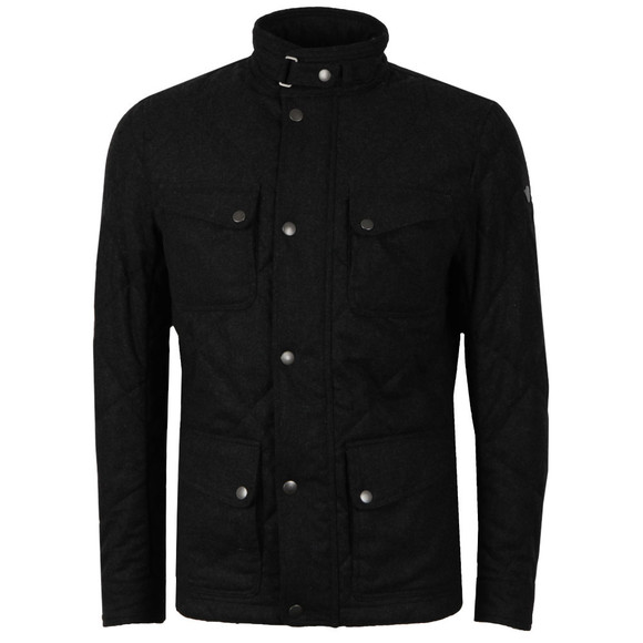 Matchless Mens Grey Nettleton Quilted Wool Jacket main image