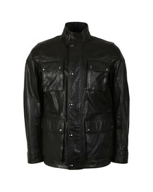 Belstaff Mens Black Trialmaster Leather Jacket