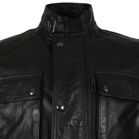 Belstaff Mens Black Trialmaster Leather Jacket main image