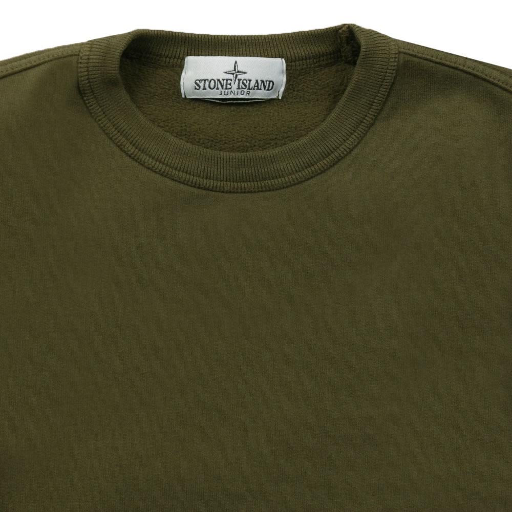 c5365b6ce43a1 Stone Island Junior Sleeve Badge Crew Neck Sweatshirt