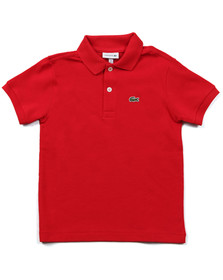 Lacoste Boys Red Lacoste L1812 Plain Polo