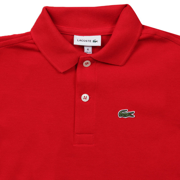 Lacoste Boys Red Lacoste L1812 Plain Polo main image