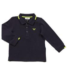 Armani Baby Boys Blue Tipped Long Sleeve Polo Shirt