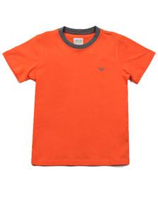 Armani Junior  Boys Orange Plain Crew Neck T Shirt