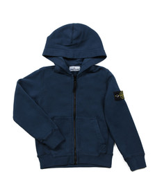Stone Island Junior  Boys Blue Full Zip Button Pocket Hoody