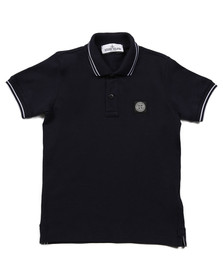 Stone Island Junior  Boys Blue Boys Tipped Polo Shirt