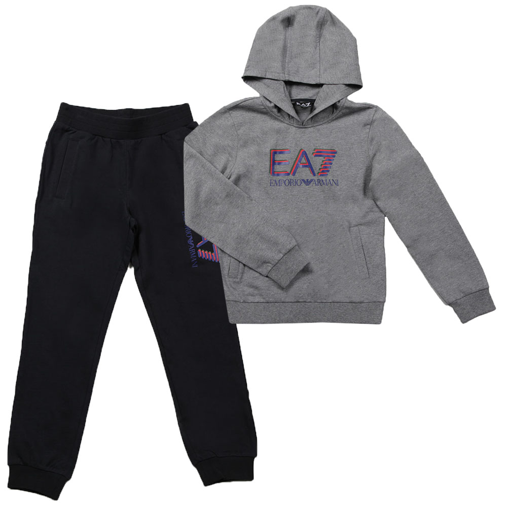 Boys Large Logo Hooded Tracksuit main image