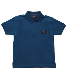 Paul & Shark Boys Blue Boys Plain Pique Polo Shirt