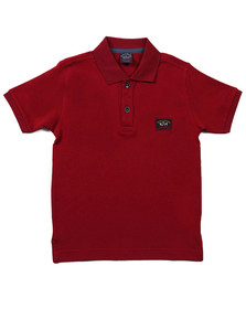 Paul & Shark Boys Red Boys Plain Pique Polo Shirt