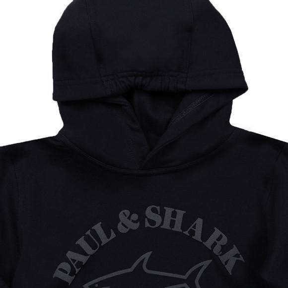 Paul & Shark Cadets Boys Blue Large Logo Overhead Hoody main image