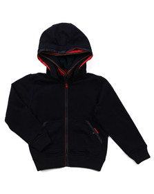 Paul & Shark Boys Blue Lined Hood Full Zip Hoody