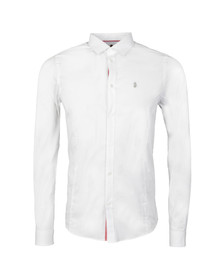 Luke Mens White Butchers Pencil Shirt