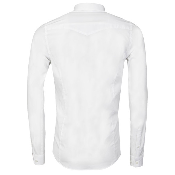 Luke Mens White Butchers Pencil Shirt main image