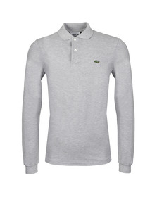 Lacoste Mens Grey L1313 Argent Chine Long Sleeve Polo