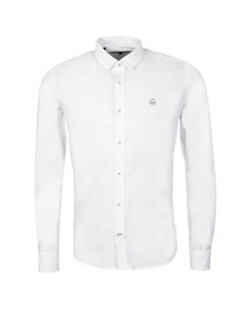 Duck & Cover Mens White L/S Birch Plain Shirt