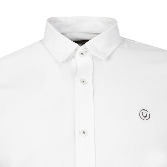Duck & Cover Mens White L/S Birch Plain Shirt main image