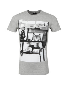 Diesel Mens Grey Diego HF T Shirt