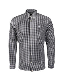 Pretty Green Mens Black Ebsworth Gingham Shirt